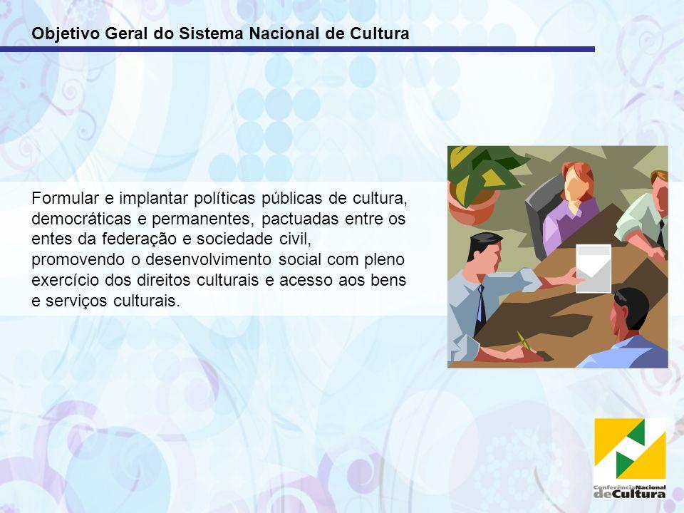 Objetivo Geral do Sistema Nacional de Cultura