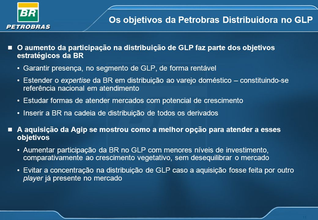 Os objetivos da Petrobras Distribuidora no GLP