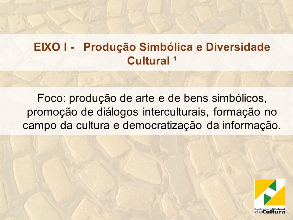 EIXO I - Produção Simbólica e Diversidade Cultural ¹