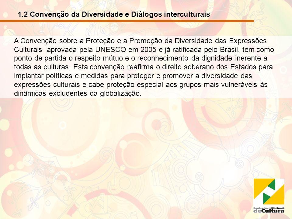 1.2 Convenção da Diversidade e Diálogos interculturais