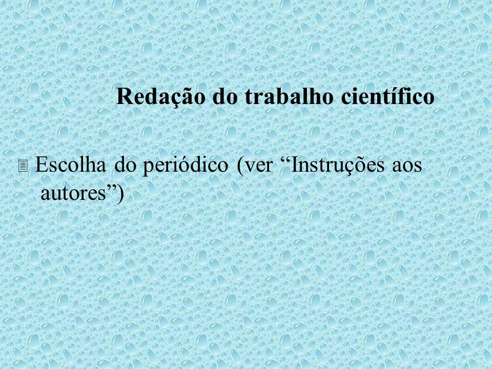 Redação do trabalho científico