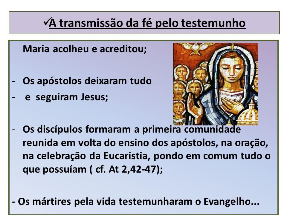 A transmissão da fé pelo testemunho