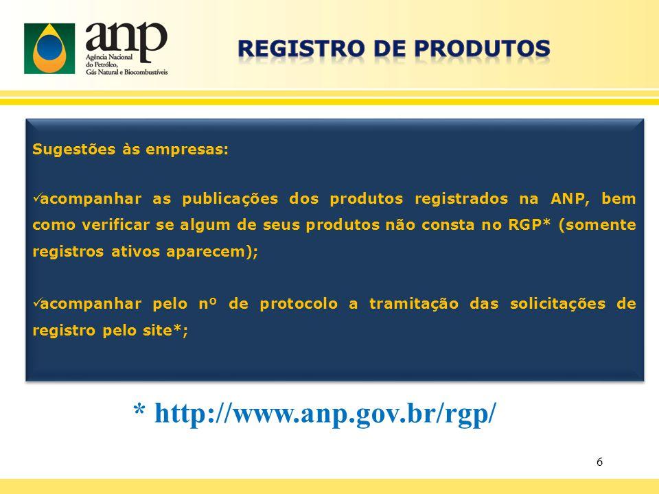 * http://www.anp.gov.br/rgp/