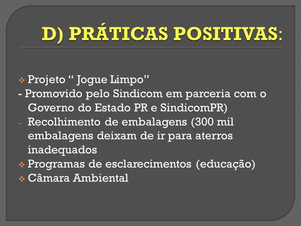 D) PRÁTICAS POSITIVAS: