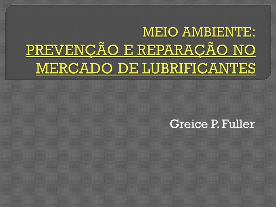 MEIO AMBIENTE: PREVENÇÃO E REPARAÇÃO NO MERCADO DE LUBRIFICANTES