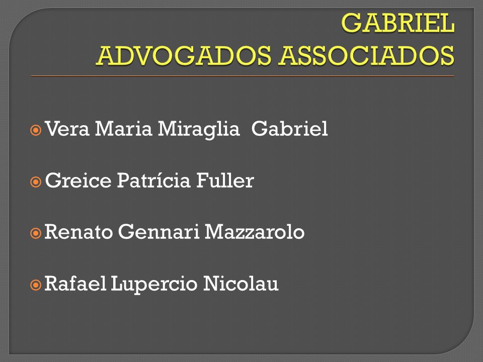GABRIEL ADVOGADOS ASSOCIADOS