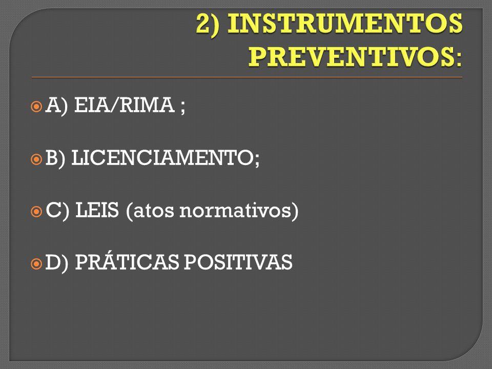 2) INSTRUMENTOS PREVENTIVOS: