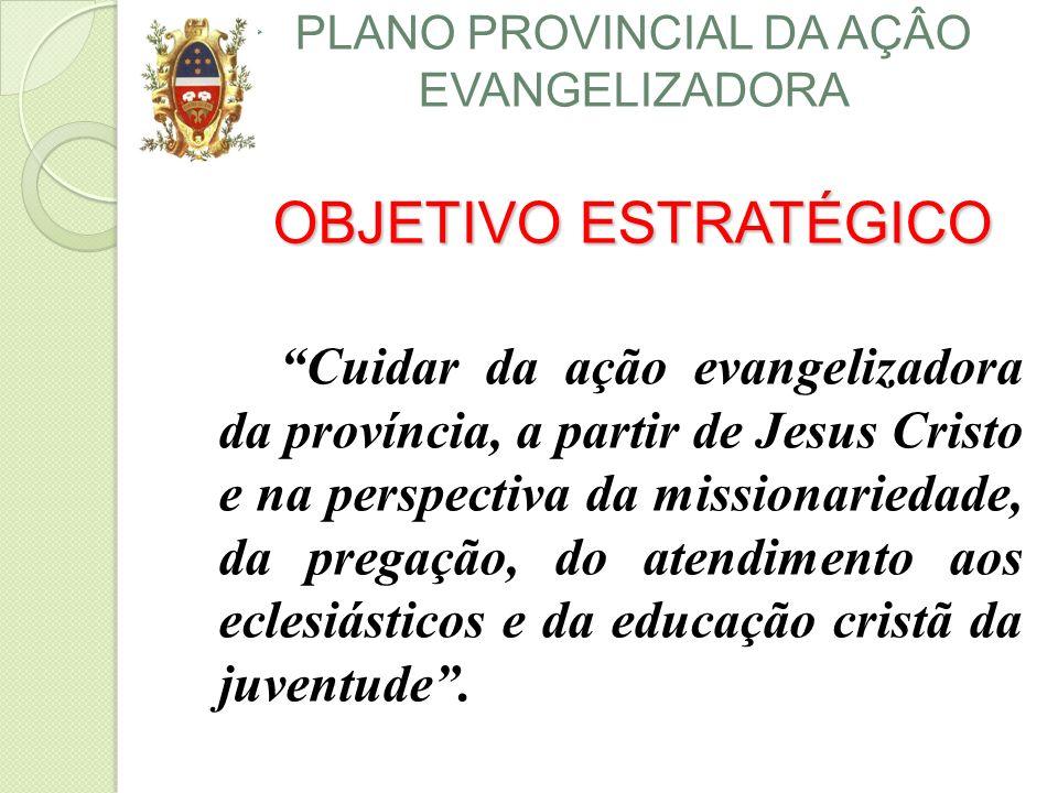 PLANO PROVINCIAL DA AÇÂO EVANGELIZADORA OBJETIVO ESTRATÉGICO