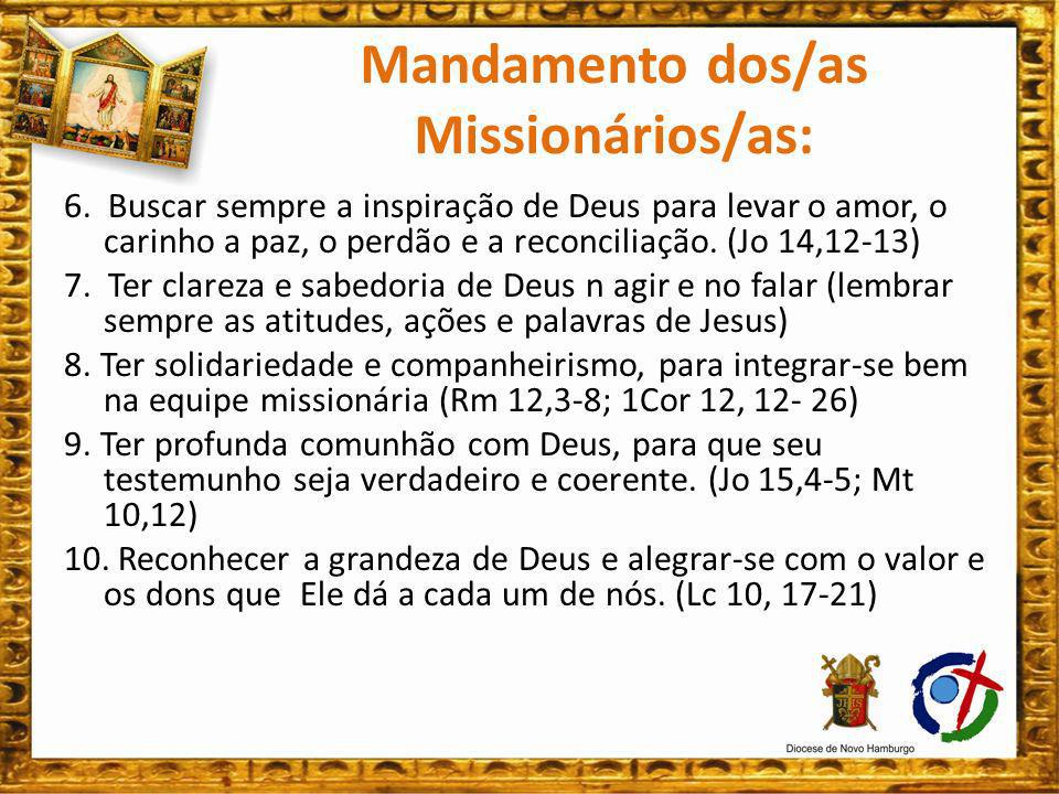 Mandamento dos/as Missionários/as: