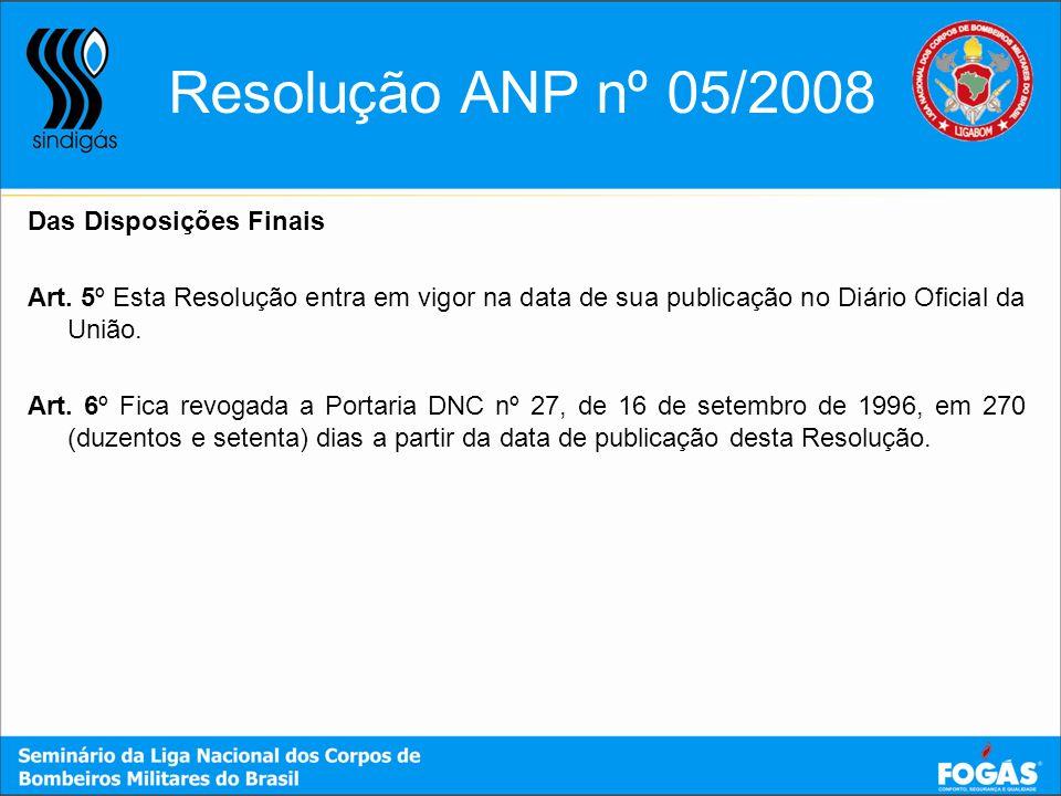 Resolução ANP nº 05/2008