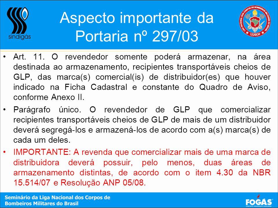 Aspecto importante da Portaria nº 297/03