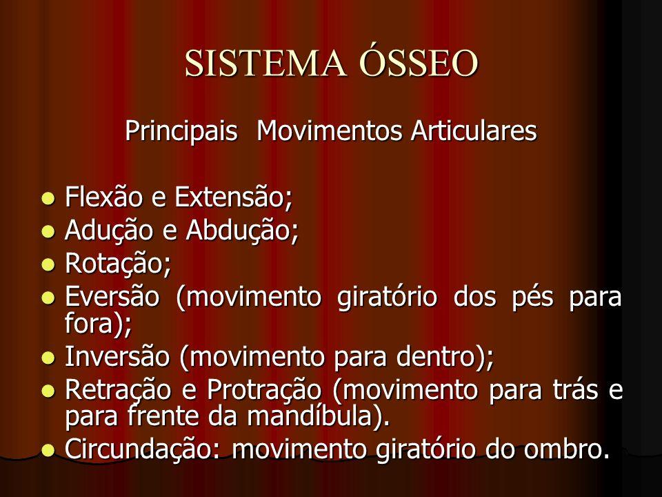 Principais Movimentos Articulares