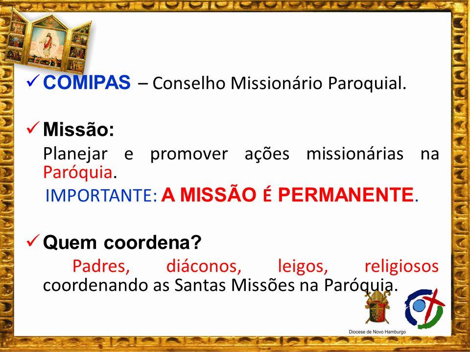 IMPORTANTE: A MISSÃO É PERMANENTE.