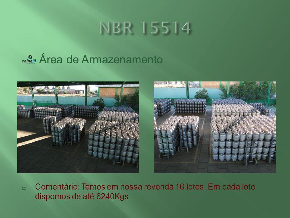 NBR 15514 Área de Armazenamento