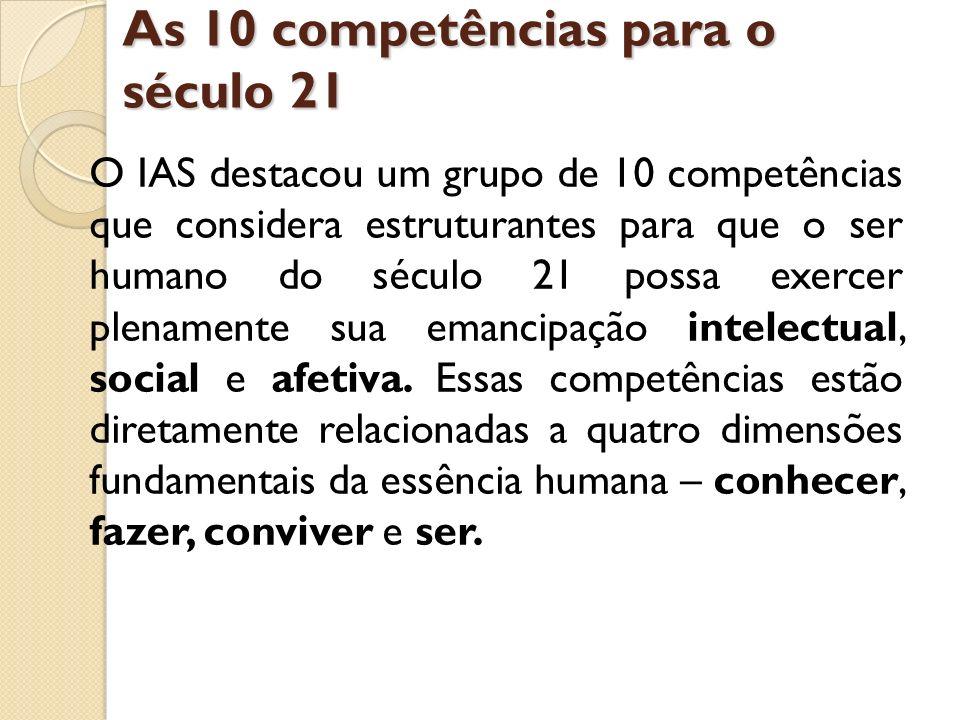 As 10 competências para o século 21