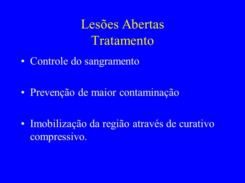 Lesões Abertas Tratamento
