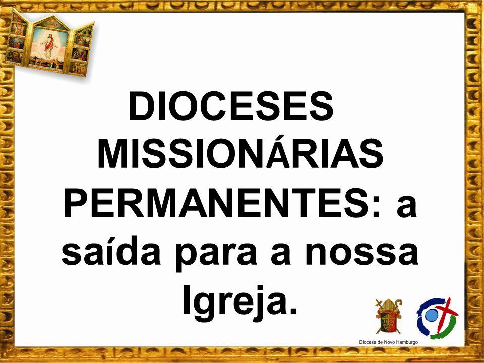DIOCESES MISSIONÁRIAS PERMANENTES: a saída para a nossa Igreja.