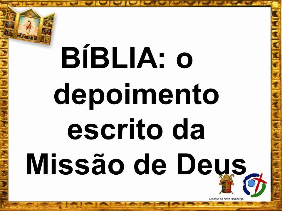 BÍBLIA: o depoimento escrito da Missão de Deus