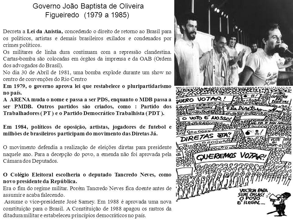 Governo João Baptista de Oliveira Figueiredo (1979 a 1985)