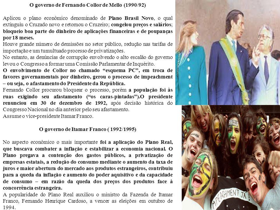 O governo de Fernando Collor de Mello (1990/92)