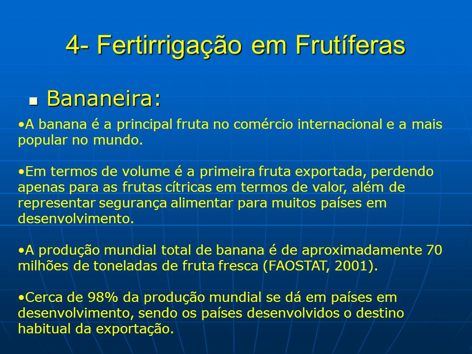 4- Fertirrigação em Frutíferas
