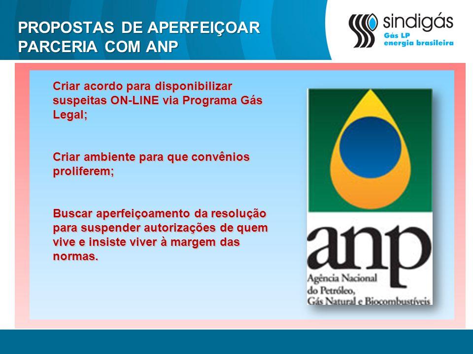 PROPOSTAS DE APERFEIÇOAR PARCERIA COM ANP