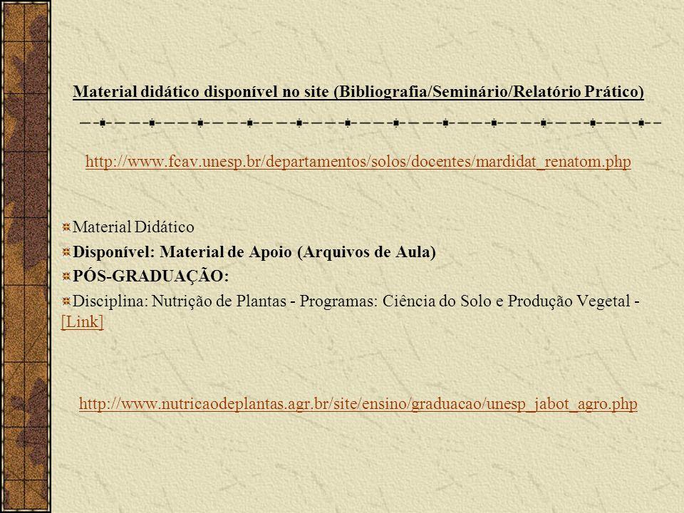 Disponível: Material de Apoio (Arquivos de Aula) PÓS-GRADUAÇÃO: