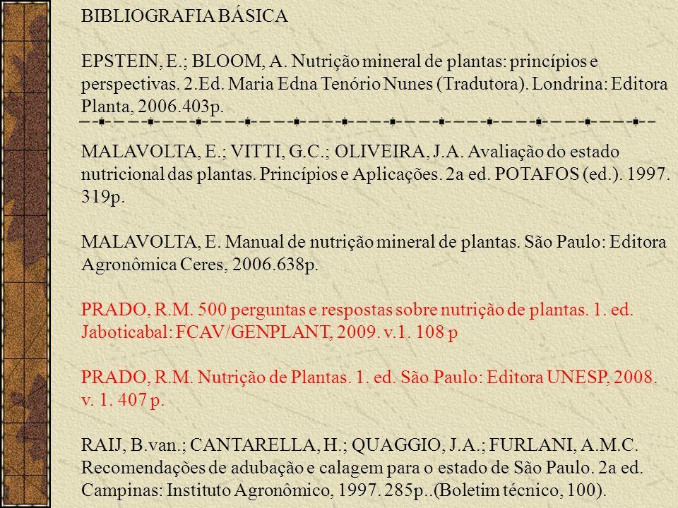 BIBLIOGRAFIA BÁSICA EPSTEIN, E. ; BLOOM, A