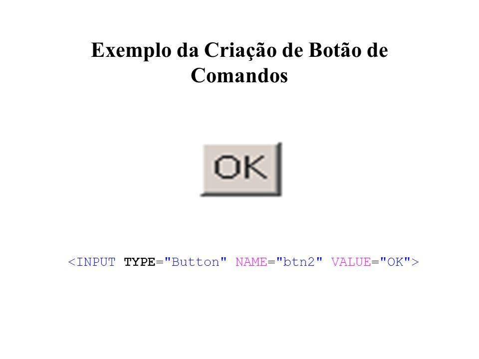 Exemplo da Criação de Botão de Comandos