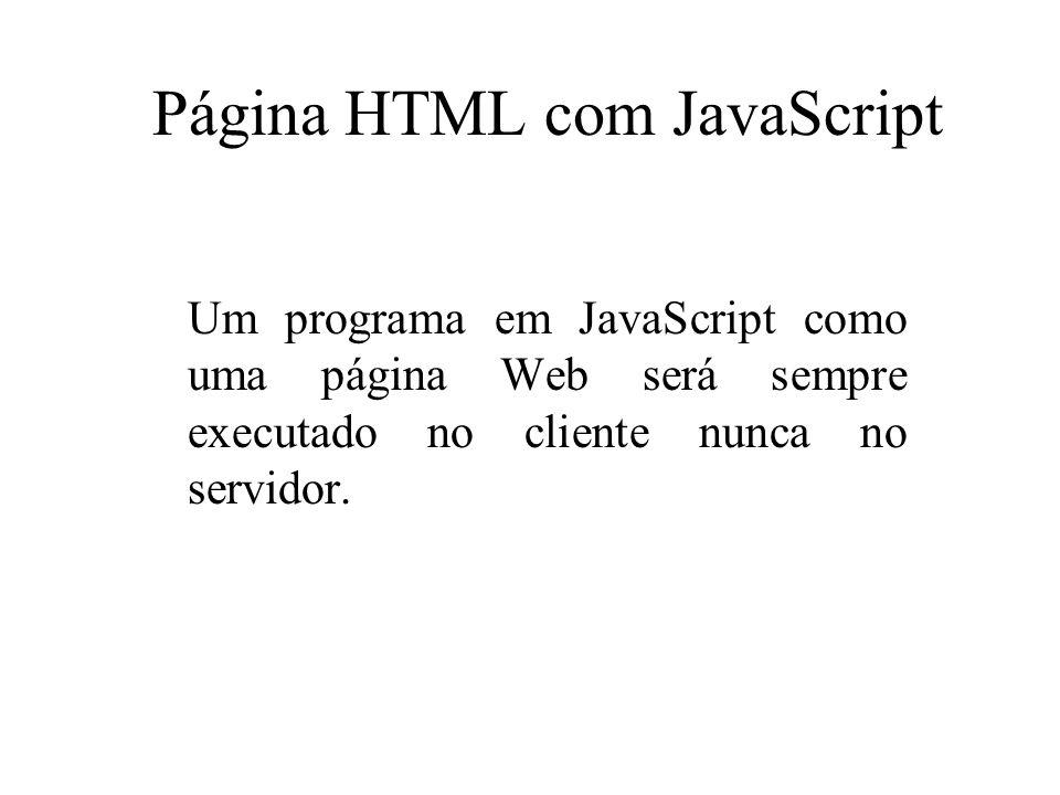 Página HTML com JavaScript