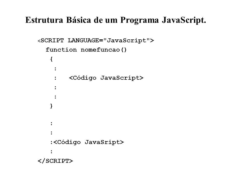 Estrutura Básica de um Programa JavaScript.