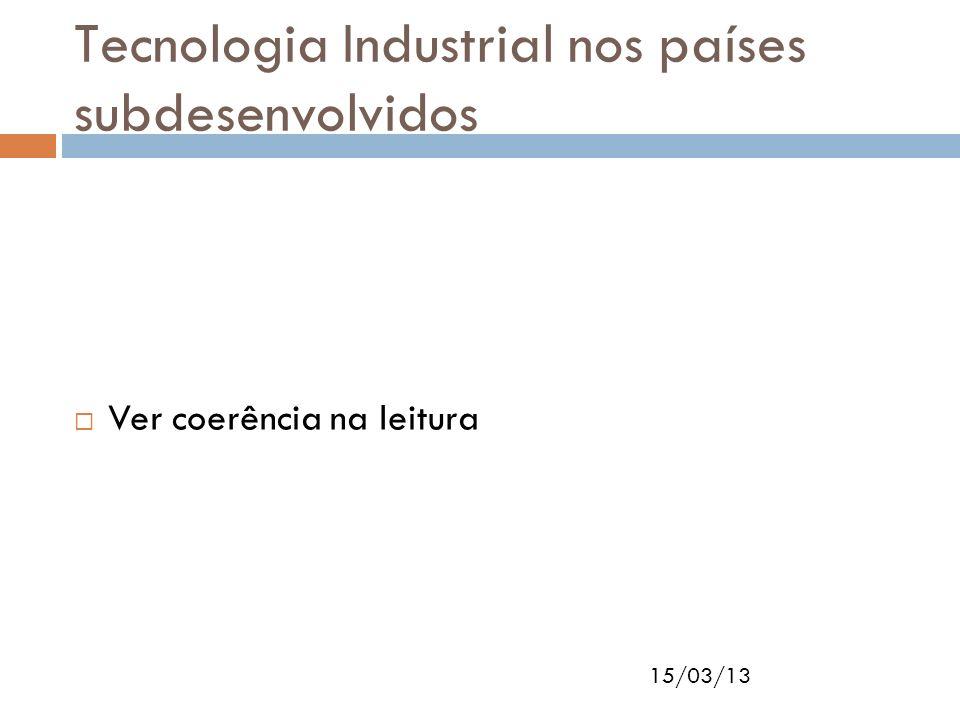 Tecnologia Industrial nos países subdesenvolvidos