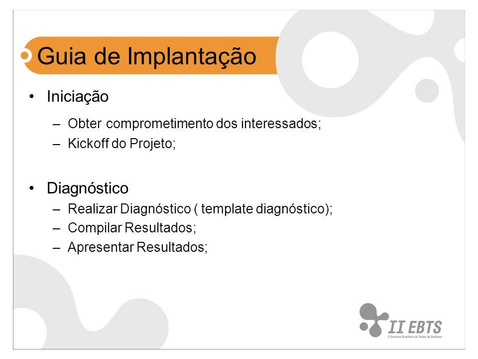 Guia de Implantação Iniciação Diagnóstico
