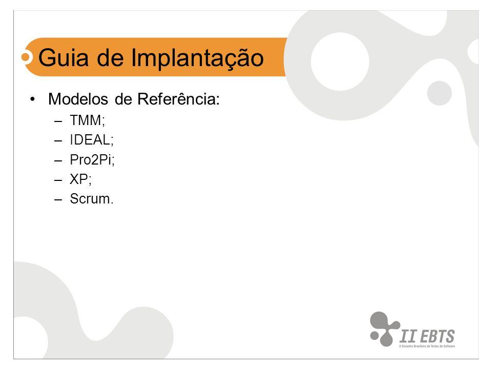 Guia de Implantação Modelos de Referência: TMM; IDEAL; Pro2Pi; XP;