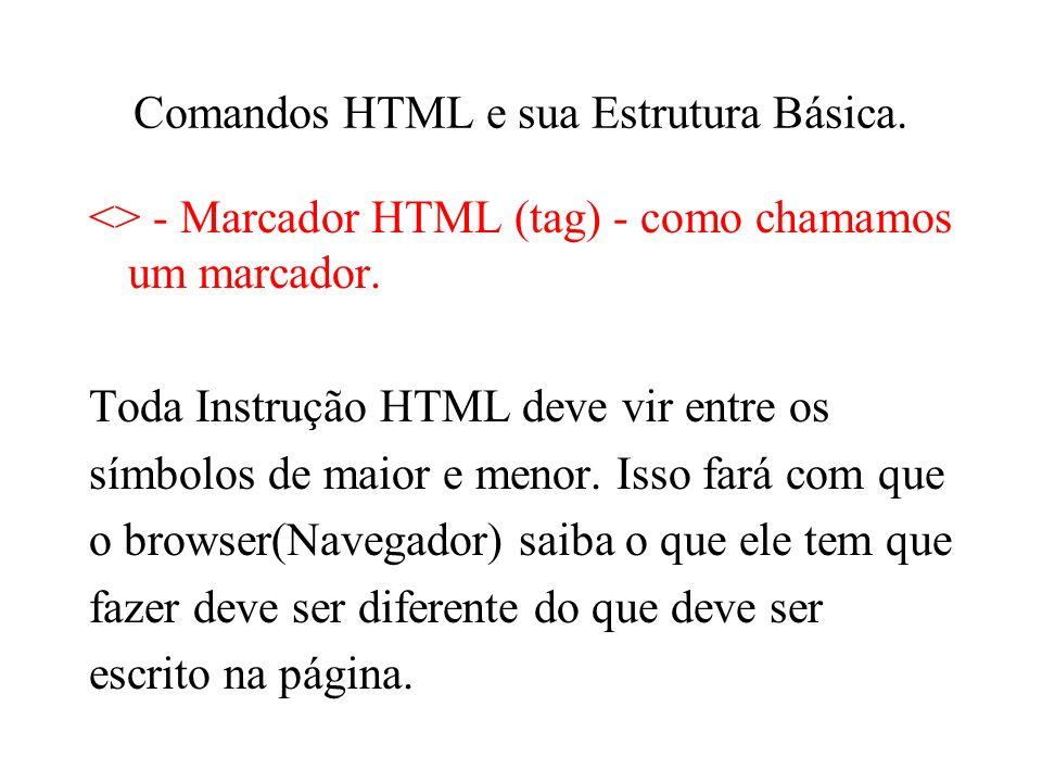 Comandos HTML e sua Estrutura Básica.