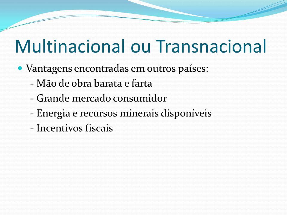 Multinacional ou Transnacional