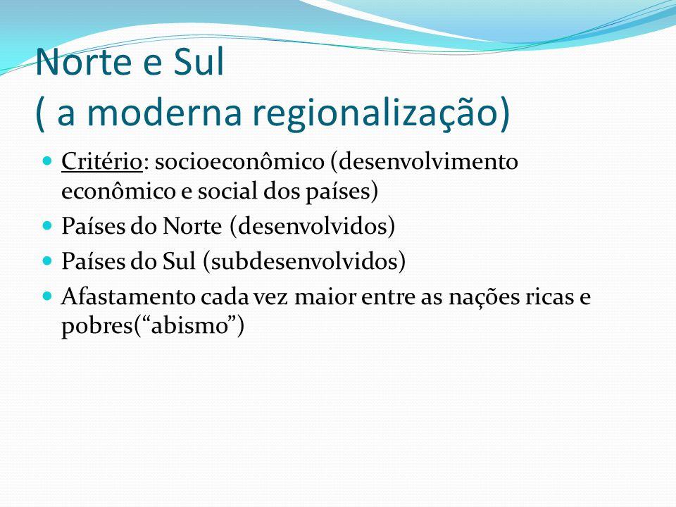 Norte e Sul ( a moderna regionalização)