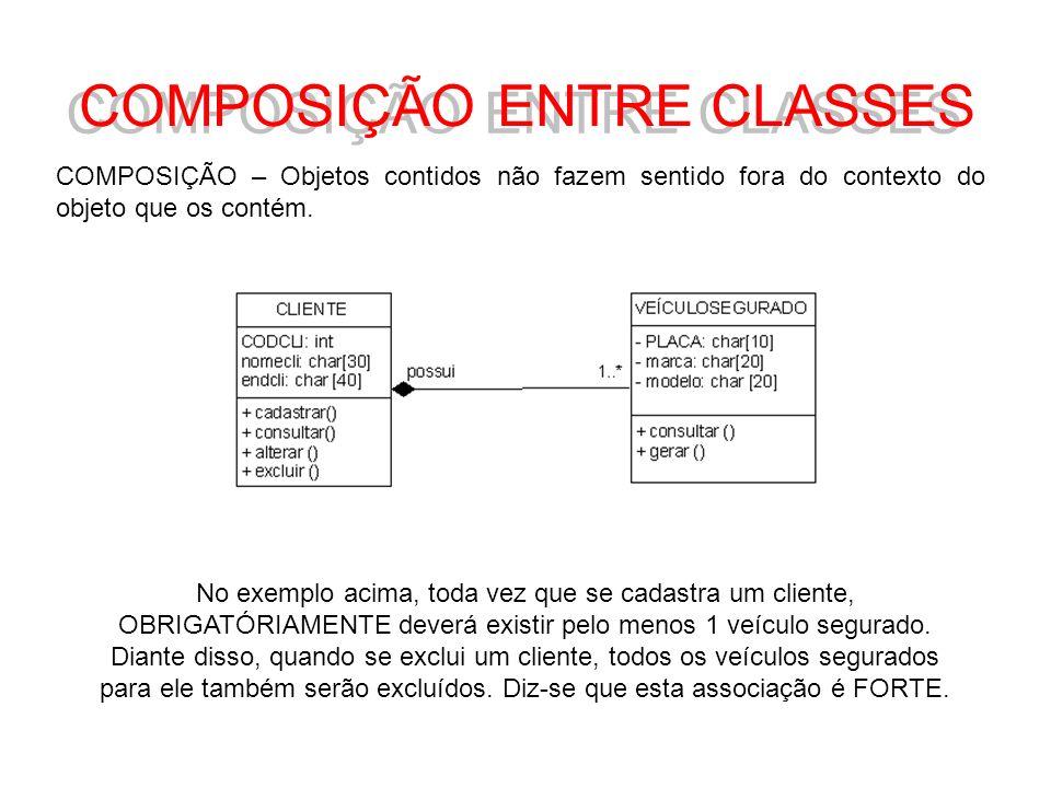 COMPOSIÇÃO ENTRE CLASSES