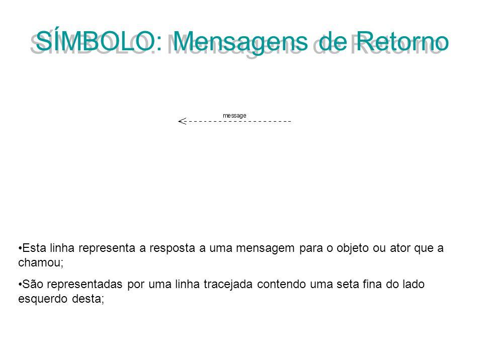 SÍMBOLO: Mensagens de Retorno