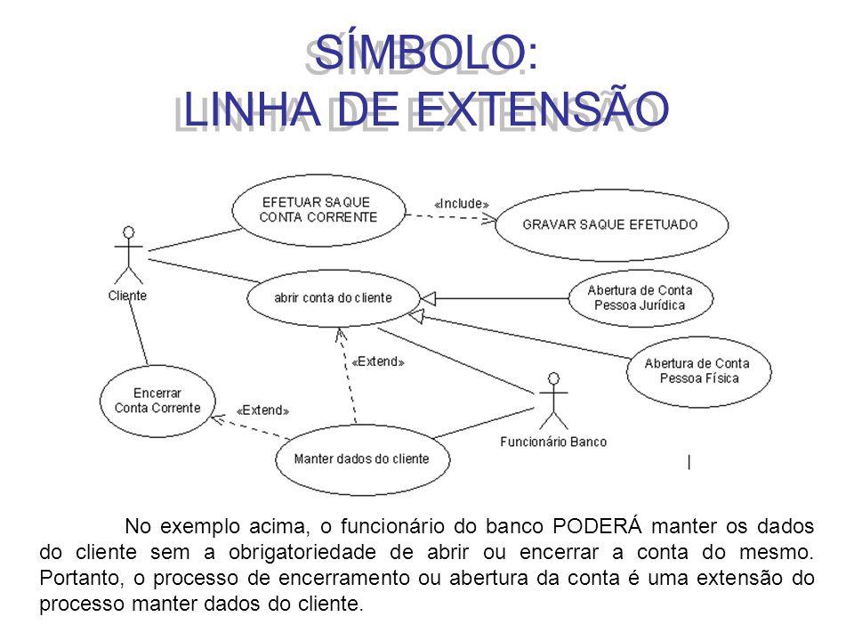 SÍMBOLO: LINHA DE EXTENSÃO