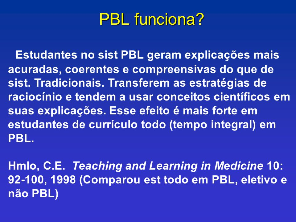 PBL funciona
