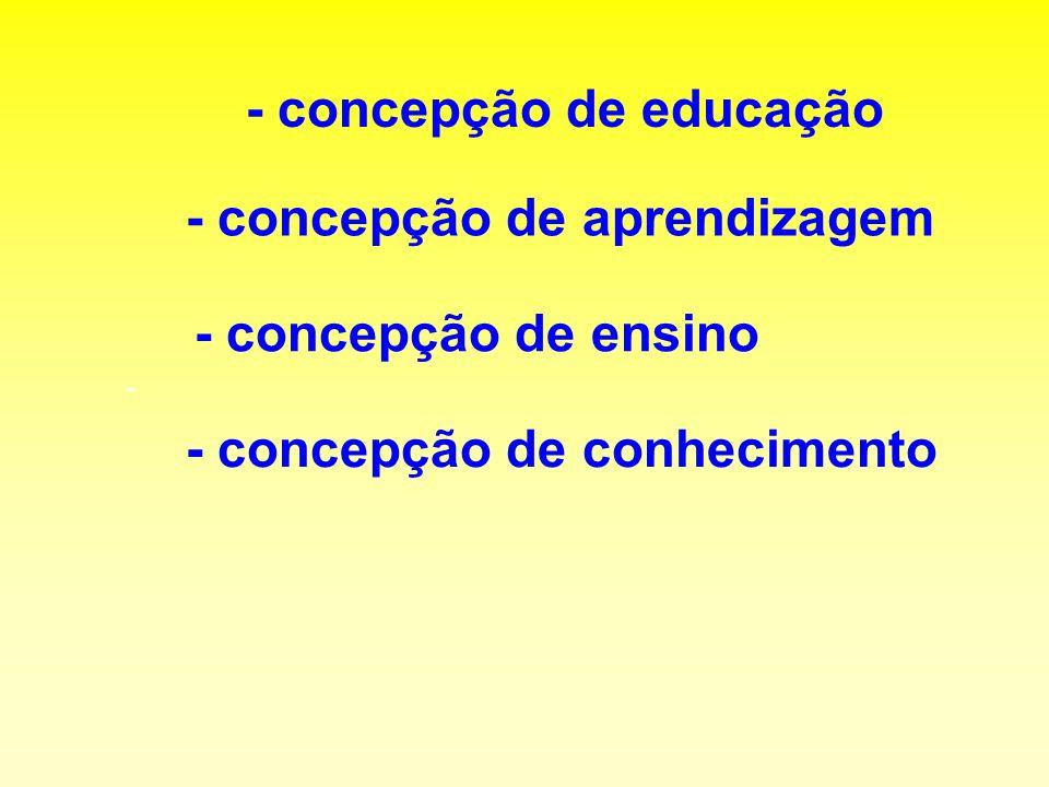 - concepção de educação