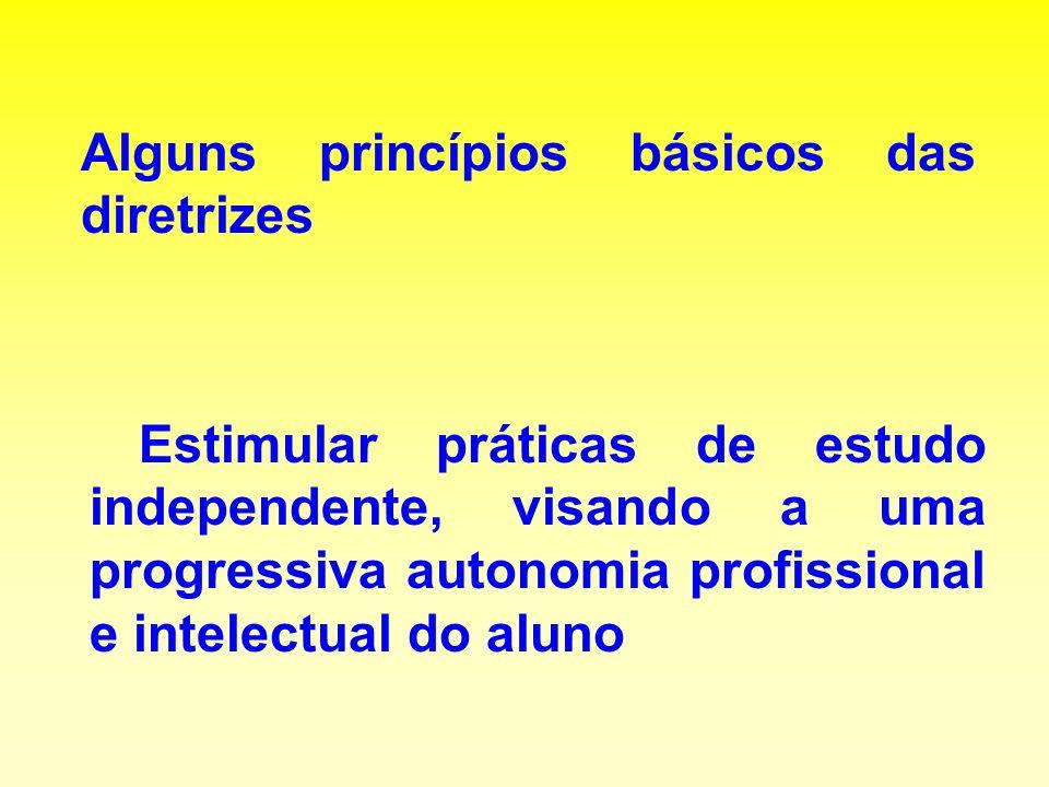Alguns princípios básicos das diretrizes
