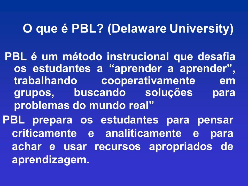 O que é PBL (Delaware University)
