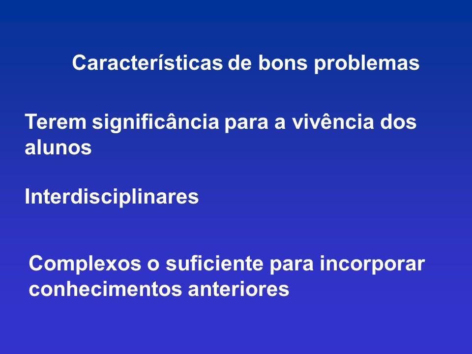Características de bons problemas