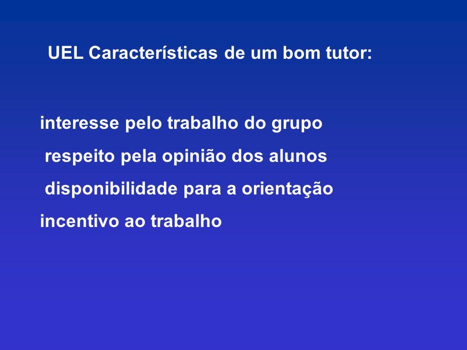 UEL Características de um bom tutor: