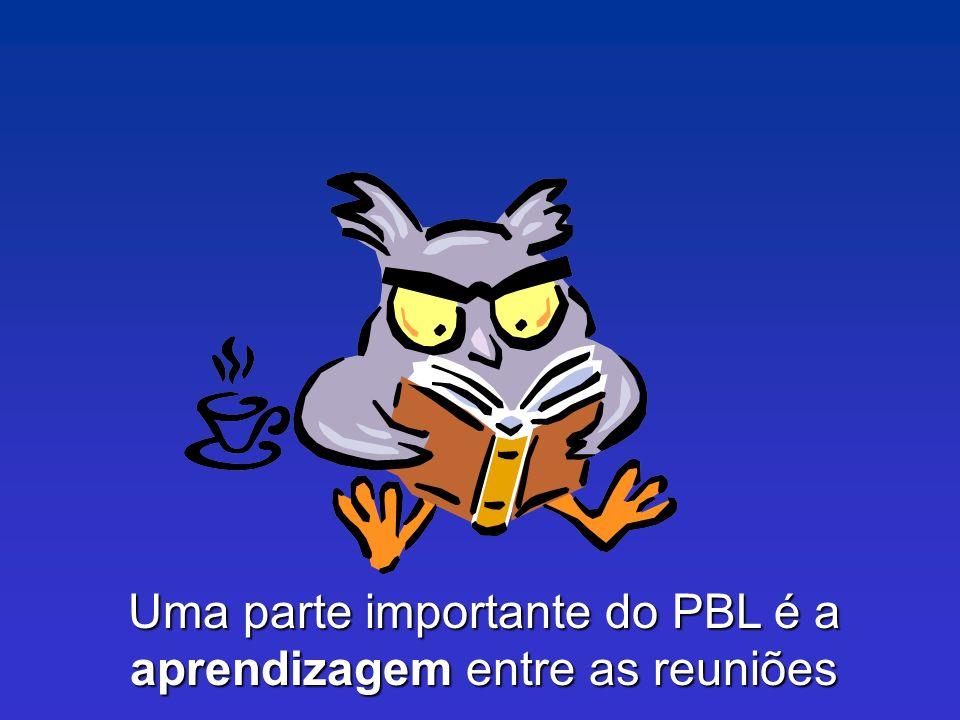 Uma parte importante do PBL é a aprendizagem entre as reuniões