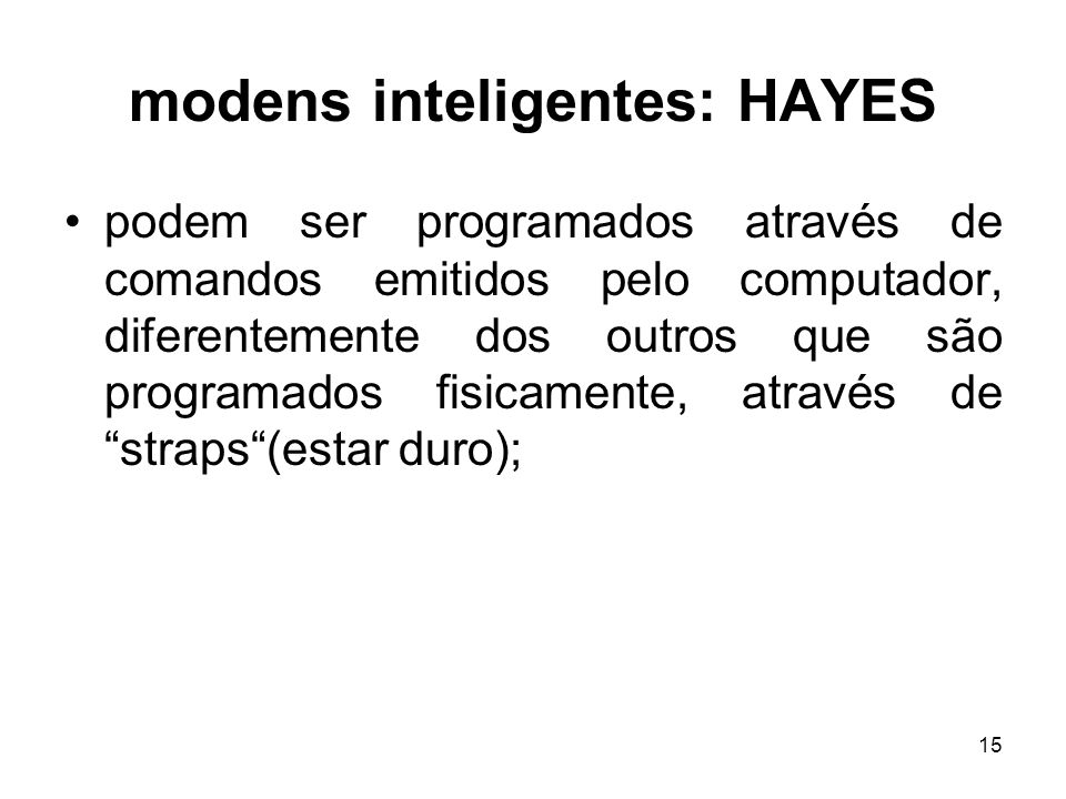 modens inteligentes: HAYES
