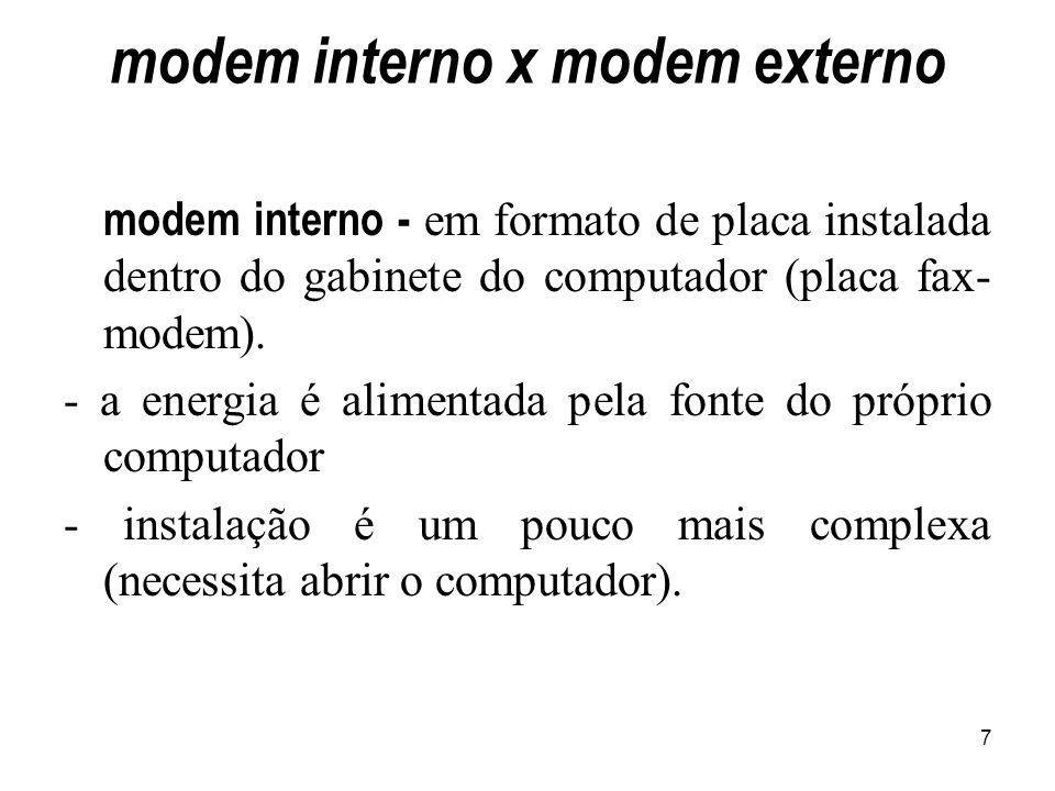 modem interno x modem externo