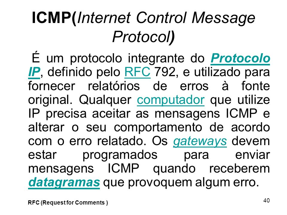 ICMP(Internet Control Message Protocol)